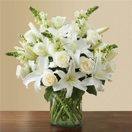 Conroys flowers long beach local florist in long beach ca 1 800 flowers classic all white arrangement mightylinksfo